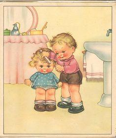 Da Lilia un articolo sui bimbi di 60 anni fa:      Nei verdi prati della letteratura per l'infanzia, come allegri fiorellini spuntano qua e...