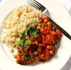 Spinach & Chickpea Curry- Emma's Little Kitchen