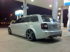Bagged Audi station wagon.