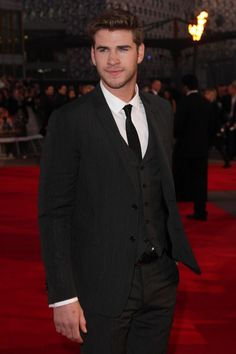 """Liam Hemsworth at the London premiere of """"The Hunger Games"""""""