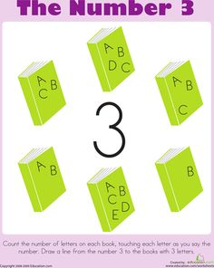 Worksheets: Counting: The Number 3