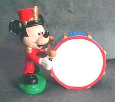 Mickey and a drum
