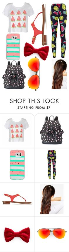 """""""Watermelon Outfit"""" by unicorn-narwhal ❤ liked on Polyvore featuring Ally Fashion, Candie's, Casetify, Michael Kors, ASOS and Victoria Beckham"""