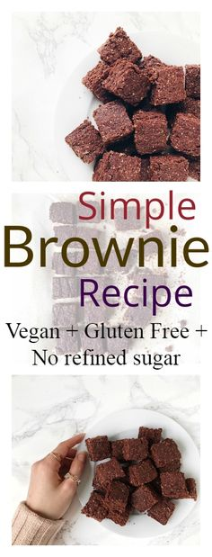 Simple Vegan Brownies with only 7 ingredients required. Gluten free and no refined sugar. Intensely moist and chocolatey. #brownie #recipe #vegan #glutenfree #healthy #chocolate #buckwheat