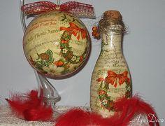 Todos os tamanhos | Decoupage Ball Christmas Ornament and Bottle | Flickr – Compartilhamento de fotos!