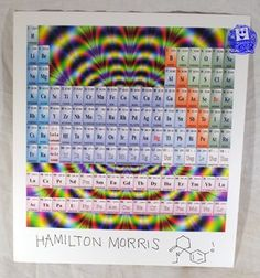 "Image of Hamilton Morris signed LSD Blotter Art ""Periodical Table"""