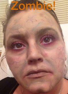 Maquillage fait avec les produits Younique #younique #produitnaturel #maquillage #zombie  www.mascara3dwow.ca