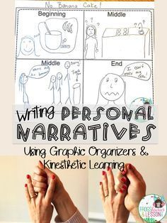 Organize your students' ideas before they start writing their Personal Narratives. I walk you through how I do it with 1st Graders using only a Graphic Organizer and Kinesthetic Learning! It's been a game changer!