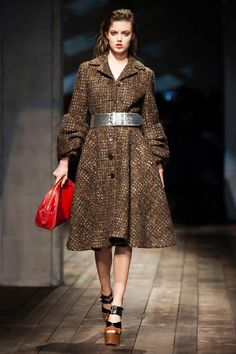 Prada Fall 2013 RTW Collection full of oversized pieces #MFW