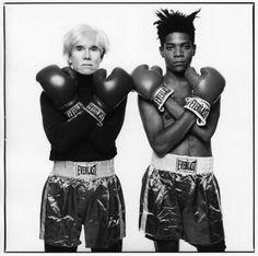 Andy Warhol and Jean-Michel Basquiat, 1985. Photo: Michael Halsband.
