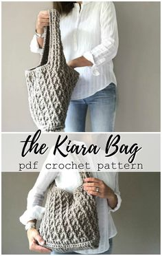 Beautiful and sturdy crochet pattern for this large and functional handbag in 2 sizes! Love the look of this bag! #crochet #pattern #handbag #purse #laptopbag #handmade #yarn #crafts #pdf #craftevangelist