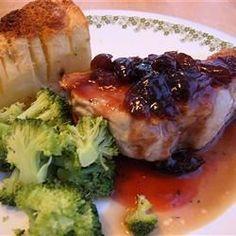 Pork Chops With Black Cherry Sauce Allrecipes.com
