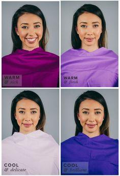 Best Purple for Warm Skin, Dark Hair & Eyes