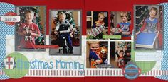 Christmas Morning Be Merry Scrapbook Layout Project Idea
