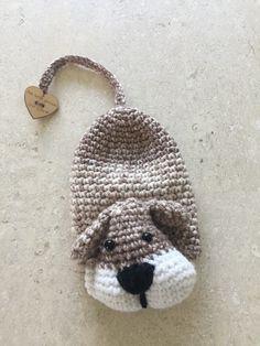 Een sleutelhoesje van een hondje
