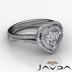 Brilliant Heart Shape Diamond Engagement Antique Ring GIA H SI1 Platinum 2 55 Ct | eBay