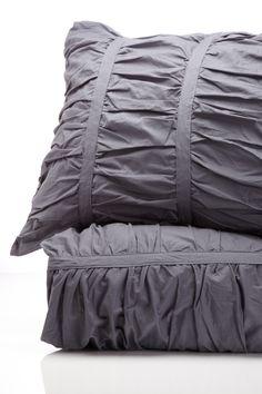 Soft, grey linen.