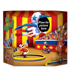 Birthday Party Circus Photo Prop (6ct)