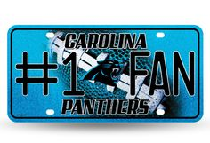PANTHERS - CR BLING # 1 FAN METAL TAG