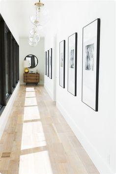 Studio McGee Gives a Utah Mountain Home a Modern Edge - Best Halway ideas Hallway Wall Decor, Hallway Walls, Hallway Decorating, Long Hallway, Art Walls, Entry Hallway, Hallways, Entryway, Design Hall