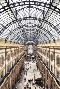 Nesting in the rafters of 19th-century shopping strip Galleria Vittorio Emanuele, Galleria Vik is the latest luxury hotel to take up residence within the historic complex's rarefied, cast iron bones.  Hosting a sprawling network of 90 rooms, private spa and an on-site cafe and peering out over a glass-roofed parade of boutiques on one side and Piazza della Scala (in the opera house's shadow) on the other, the hotel's privileged sightlines are only rivaled by scenes within. Beautiful Hotels, Beautiful World, Galleria Vittorio Emanuele Ii, Exhibition Space, Milan Italy, Hotel S, Abandoned Places, Townhouse, The Dreamers