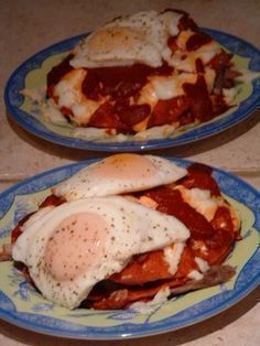 The Weishar's Famous New Mexico Style Stacked Enchiladas by Hollis Weishar