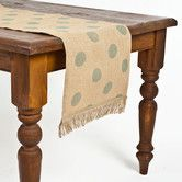 Found it at Wayfair - Ecoaccents Dot Burlap Table Runner