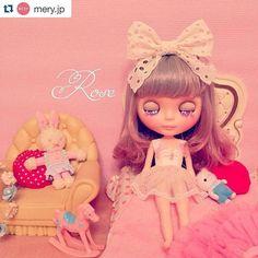 #mulpix  #Repost @mery.jp with @repostapp. ・・・ photo by @miyuking  ブライスアーティストであるオダニミユキさんのアカウント。お人形遊びをしたくなっちゃうような可愛いブライスでいっぱい♡   #MERY  #regram  #pink  #ブライス  #人形  #リボン  #まつげ  #キラキラ  #うさぎ  #かわいい ⭐︎ MERYさんの公式アカウントに取り上げてもらったよ〜(^O^)この子はすごくお気に入りの子なので、この写真を紹介してもらえてうれしい〜❤️