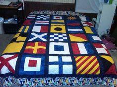 nautical flag quilt