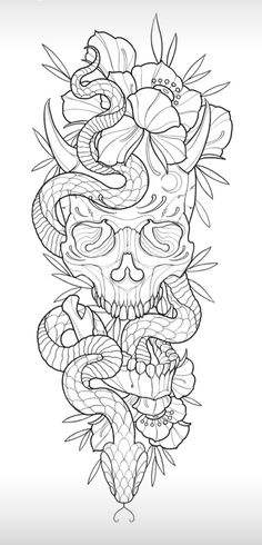Arm Tattoos Drawing, Tattoo Outline Drawing, Doodle Tattoo, How To Draw Tattoos, Tattoo Sketch Art, Half Sleeve Tattoos Drawings, Snake Drawing, Tattoo Illustration, Outline Drawings