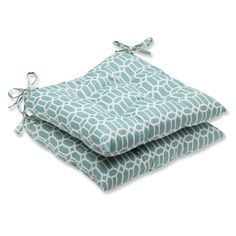 Pillow Perfect Outdoor Rhodes Quartz Wrought Iron Seat Cushion (Set of 2) | Overstock™ Shopping - Big Discounts on Pillow Perfect Outdoor Cu...