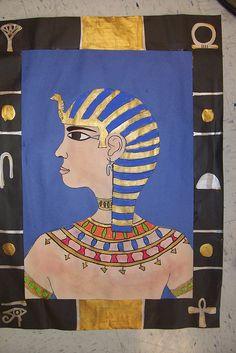 Egyptian Inspired Self Portraits by k-12 art lesson plans, via Flickr