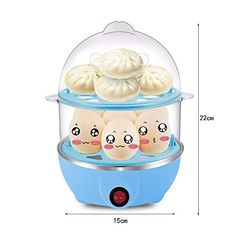 VISTANIA Double Layer Egg Boiler Steamer Electric Poacher Breakfast Boiled Eggs Clear Up To 14Egg--12.29 Health Recipes, Diet Recipes, Cooking Recipes, Easy Hard Boiled Eggs, Boiler, Small Kitchen Appliances, Steamer, Health Diet, No Cook Meals