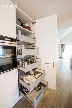 Modern Kitchen Cabinets, Drawer Unit, Drawers, Sweet Home, Interior, Stone Walls, Studio, Kitchens, Gifs