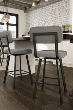 Trendy Kitchen Bar Stools With Backs Swivel Modern 63 Ideas Upholstered Bar Stools, Bar Stool Chairs, Swivel Bar Stools, Room Chairs, Eames Chairs, Office Chairs, Dining Chairs, Kitchen Stools With Back, Counter Stools With Backs