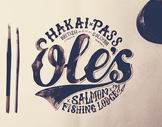 """Check out this @Behance project: """"Ole's Salmon Fishing Lodge - logo"""" https://www.behance.net/gallery/21607631/Oles-Salmon-Fishing-Lodge-logo"""