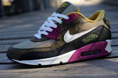 a6fdde48a965 Nike WMNS Air Max 90-Bamboo-Sail-Medium Olive-Black Nike Free