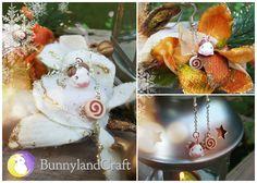 Winged poro earrings by BunnyLandCraft