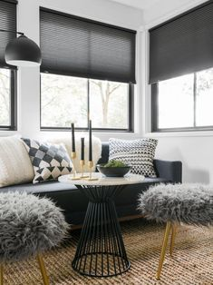 Entry and Lounge Pictures From HGTV Urban Oasis 2019 | HGTV Urban Oasis Sweepstakes | HGTV Modern Farmhouse Table, Modern Side Table, Farmhouse Design, White Master Bathroom, Master Bedroom, Porch Styles, Guest Bedroom Decor, Bedroom Ideas, White Table Top