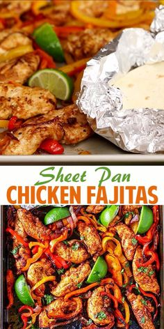 Healthy dinner recipes 249598004336617203 - These Sheet Pan Chicken Fajitas are a snap to make and they are so delicious! Colorful bell peppers, red onions and chicken tenders simply tossed together with olive oil and spices. Source by EverydayMaven Paleo Recipes, Mexican Food Recipes, Recipes Dinner, Paleo Meals, Steak Recipes, Chicken Recipes No Dairy, Natural Food Recipes, Healthy Recipes With Chicken, Chicken Tray Bake Recipes