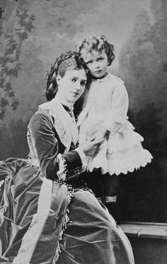 The Royal Collection: Tsarevna Marie Feodorovna and her son, Grand Duke Nicholas Alexandrovitch