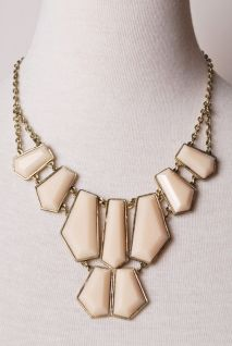 In Pieces Necklace in Cream | Peacock Plume