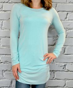 Look at this Olivia & Jane Light Blue Boatneck Tunic on #zulily today!
