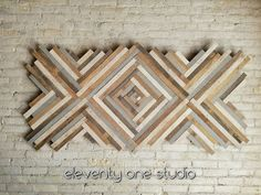 Image result for diy wood herringbone wall art
