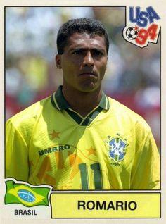 Romario of Brazil. 1994 World Cup Finals card.