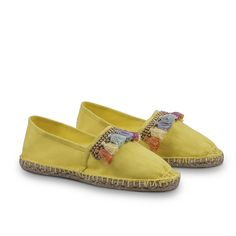 Via Vela Espadrilles - Yellow