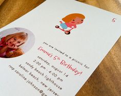 Flat card, printed on 130 lb recycled card stock. Available here:  www.etsy.com/listing/76601193/little-rider-childrens-part...    www.etsy.com/shop/fushan159     Do you want  the perfect party invitation for their child's party?