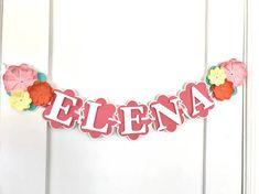 Flower Themed Banner Spring Time Banner Baby Shower