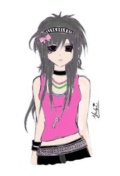 anime emo girl