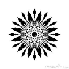Beautiful monochrome black and white flowers and leaves isolated. Floral design for greeting card and invitation of wedding, birthday, Valentine`s Day, mother`s day and seasonal holiday. Wolf Tattoos Men, Sun Tattoos, Sleeve Tattoos, Geometric Mandala, Mandala Dots, Flower Mandala, Mandala Tattoo Men, Mandala Tattoo Shoulder, Mandala Tattoo Design